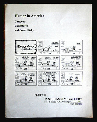 JANE HASLEM GALLERY Humor in America Catalog Carttoons Comic Strips Caricatures