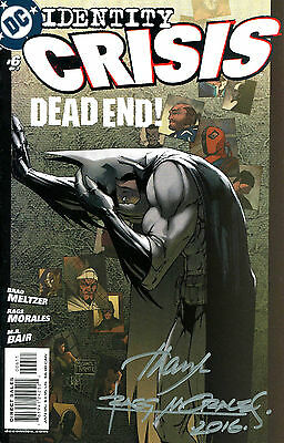 Identity Crisis #6 Batman Signed By Artist Rags Morales