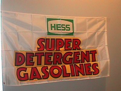 Hess Oil Company Super Detergent Gasolines Flag & Hess Shirt New Old Stock