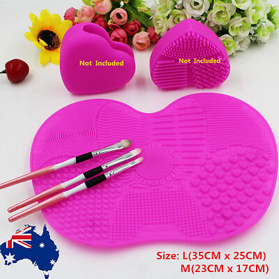 Silicone Makeup Brush Cleaning Mat Pad Washing Scrubber Board Cosmetic Cleaner