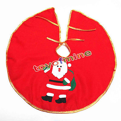 Santa Claus Snowman Christmas Tree Skirt Stands Ornaments Party Decoration
