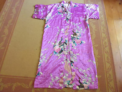 Ladies Lovely Purple Vintage Inspired Dressing Gown By Cotton On Body - Size S/m