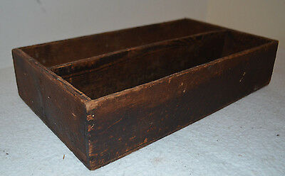 VINTAGE Hand Made Wooden Tool Storage Tray