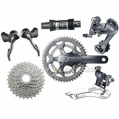 Shimano Claris 2400 Road 50/34T Groupset Kit 6 piece 175MM 11-32T 2x8 Speed