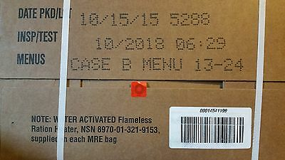 MRE US Army Rations Case B exp 10/2020 survival camping rat packs emergency