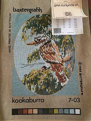Baxtergrafik Australian  Kookaburra tapestry canvas to embroider new