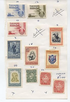 South America Lot of stamps from old pages