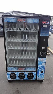 Bevmax 45 Chilled Can/Bottle Vending Machine Pepsi Theme w/Coin Mechanism