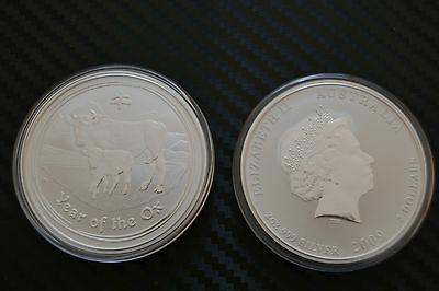 2009 Lunar Ii Ox 2Oz .999 Silver Coin  Very Low Mintage From The Perth Mint Roll