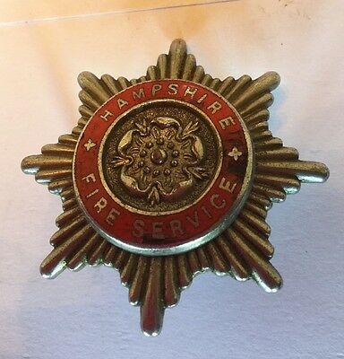 An old original Hampshire Fire Service,  cap badge.