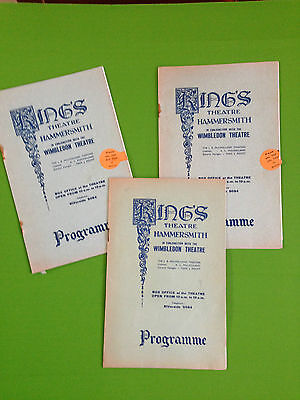 Three programmes from the Kings Theatre  Hammersmith circa 1937
