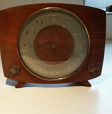 Vintage Smiths mantel clock great design - not working