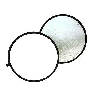 SA Round reflector For photography Diameter 80cm Foldable silver & white