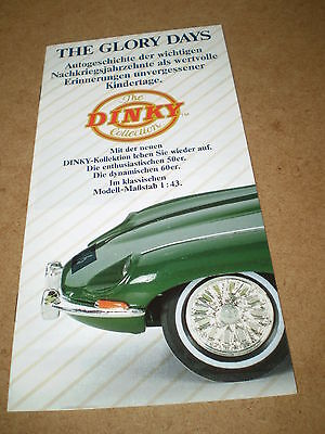 """Matchbox Dinky """"the Glory Days"""" Booklet 1989 German Edition Mint Condition"""