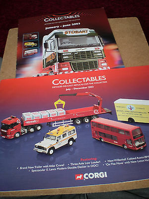 Corgi Collectables Toy Catalogues 2003 Editions Excellent Condition
