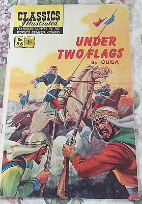 Classics Illustrated No.86 USA (HRN 167) Under Two Flags By OUIDA