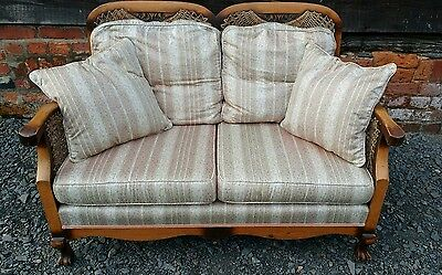 1920s - 1930s Original 3 Piece Vintage Sofa Suite with Duck Feather Cushions
