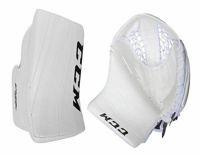 New CCM Extreme Flex II senior ice hockey blocker glove catcher Sr. white goalie
