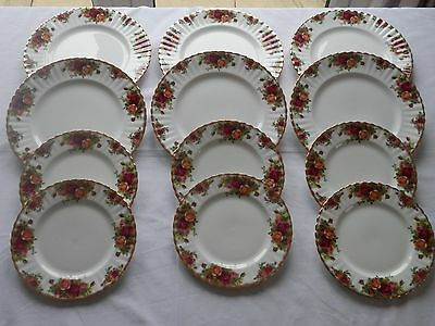 Royal Albert Old Country Roses Dinner+Salad Plates SIX xTwo=12 1st Quality V.G.C