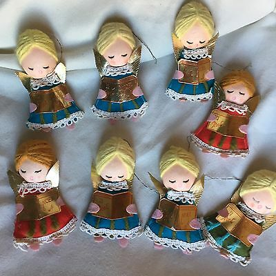 Vintage christmas ornaments (8) ANGELS