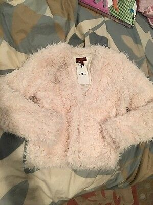 NWT 7 For All Mankind girls faux fur jacket. Size S