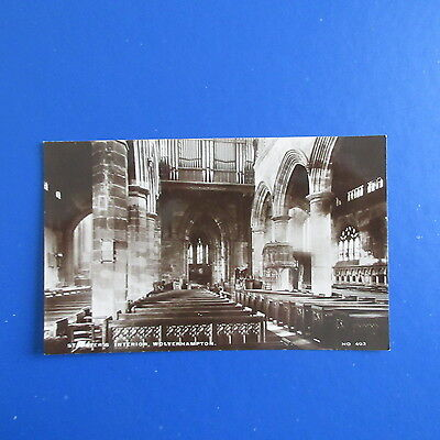 Old Postcard of an interior view of St. Peter's Church, Wolverhampton.