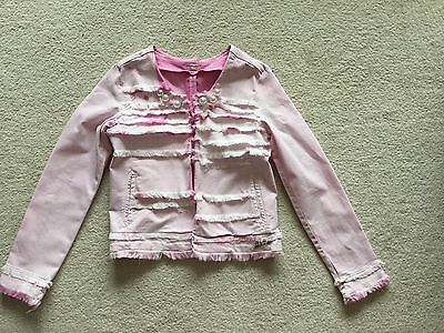 Girls Replay Pink Jacket With Large Pearl Embellishments- Age 10