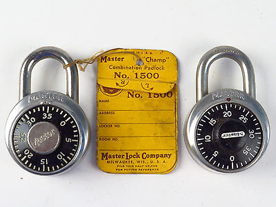 Vintage Master Combination PadLock KEY Old Tool Hardware Lot Original Tag