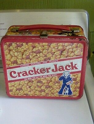 Cracker Jack metal lunchbox Aladdin embossed no thermos bottle just lunch box