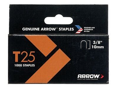 Arrow T25 Staples 10mm - 14mm T2025 ET2025 Rapid R36 Stanley 7 Cable Gun Tacker