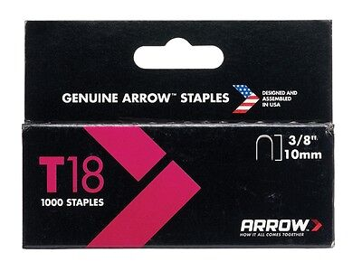 Arrow T18 Staples 10mm - 11mm for T18 Cable Gun Tacker