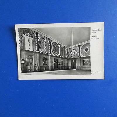 Old Postcard of Hampton Court Palace,The Kings Guard-Room.
