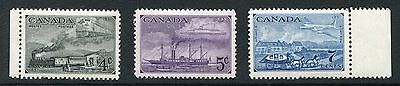 Canada 1951 Stamp Centenary mint unmounted stamps SG 436,437,438