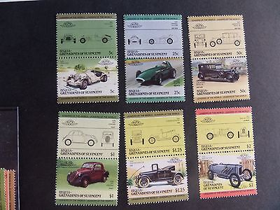 Bequia Grenadines St Vincent 1985 Automobiles Cars UM MNH unmounted mint