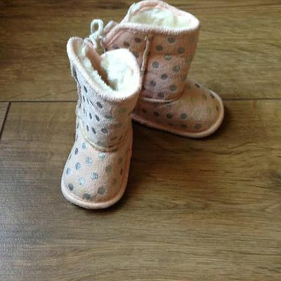 Baby Girls Pink Winter Boots - First Size