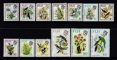 Fiji 1971 Birds and Flowers series of Stamps mint