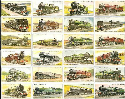 Reprinted 1993,w.d.&h.o.wills,railway Locomotives 1930,full Set Of 50 Cards.