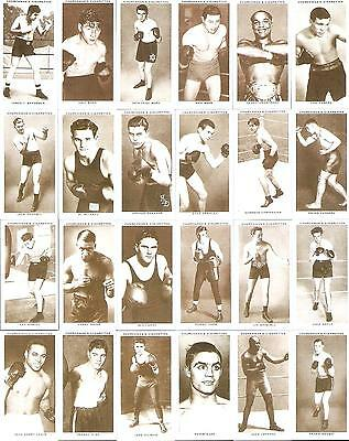 Reprinted 1990,w.a.&a.c.churchman,boxing Personalities 1938,full Set Of 50 Cards