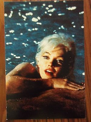 MARILYN MONROE POSTCARD 1962 Somethings Got to Give climbing out of pool