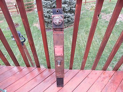 Original Antique Carnival Wheel Wall Mount With Original Hardware And Clicker