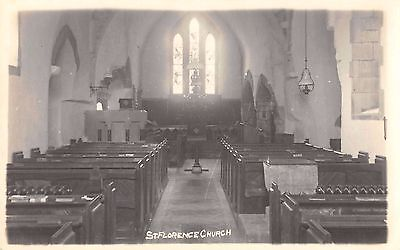 Postcard St. Florence Church real photo rppc