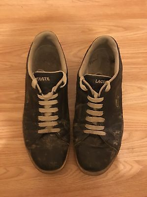 Working Lads Trashed Lacoste Trainers UK SIZE 11