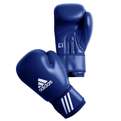 Adidas AIBA Competition Boxing Gloves - Blue