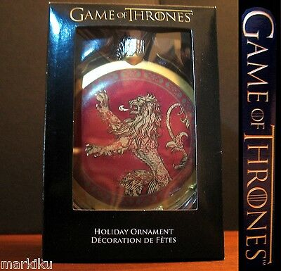 Game of Thrones Lannister lion crest Christmas tree holiday ornament FLAT