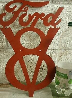 Ford V8 sign, American V8, logo, V 8 , shop, Pub, Workshop, Man cave