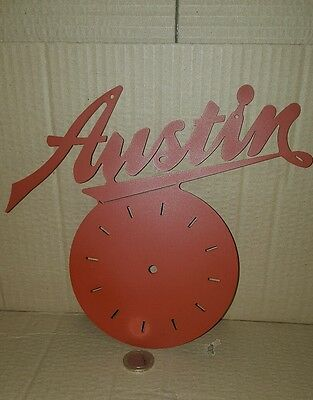 Austin Clock, Austin, A35,A30,A40,A60, Mini, Seven, Man cave,  Workshop,  Pub