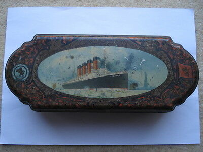 Rare 1908 Huntley&palmers R.m.s. Lusitania Biscuit Tin
