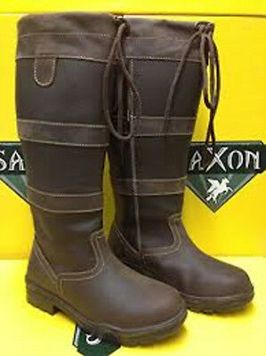Saxon Long Horse Riding Boots Walking Leather Country Boots UK 4-10 Like Dublin