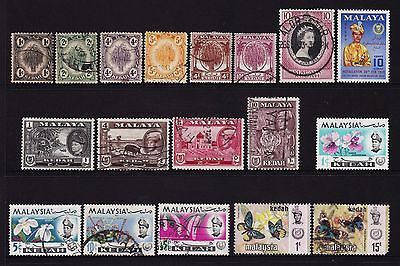 Federated Malay States Kedah Stamps all different