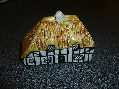 Tey Pottery Miniature Thatched Beam House, Cottage